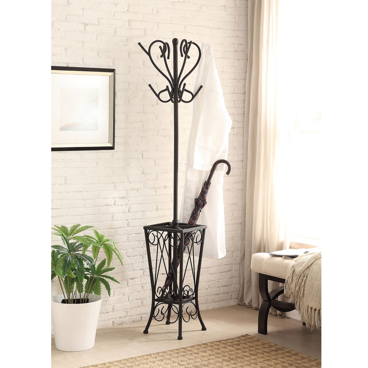 Ikea Hallway Umbrella Stand ~   Elegant Coat Rack Hall with Umbrella Stand by Kipling BRAND NEW  eBay