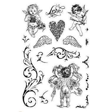 "Crafty Secrets Clear Art Stamp Med 6""X4"" Sheet - C"