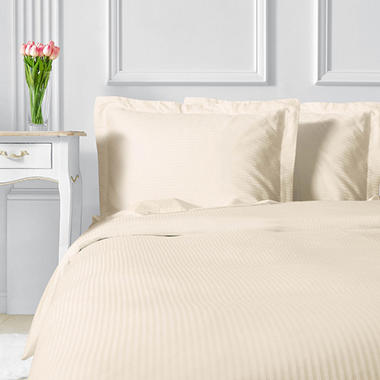 400 Thread Count Sateen Strip Duvet Set