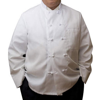 Professional Chef Coat w/ Knot Buttons