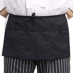 Professional 3-Pocket Aprons - Black - 6 pk.