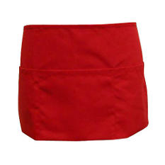 Professional Waitress Apron  - Red 6 Pk