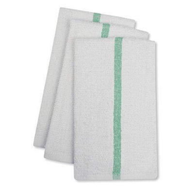 Bar Mops w/Green Center Stripe - 17x20 - 24 pk.