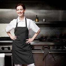 American Dawn Professional Chef's Bib Apron, Black (6 pk.)
