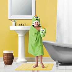 Kids' Hooded Bath Towel and Wash Mitt Set (Assorted Characters)