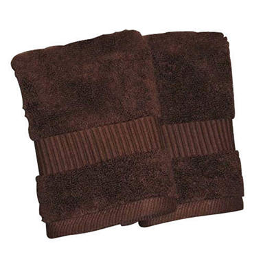 100% Cotton Washcloth - Chocolate/2pk