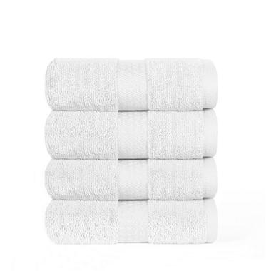 "100% Cotton Super Soft Highly Absorbent Luxurious Hand Towel - 16"" x 30"" - White"
