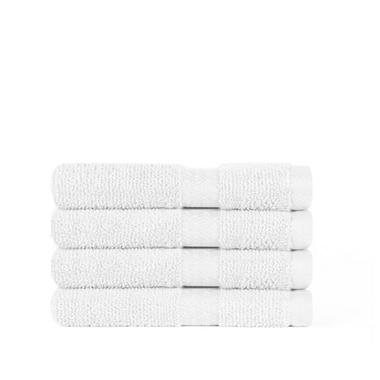"100% Cotton Super Soft Highly Absorbent Luxurious Wash Cloth - 13"" x 13"" - White - 2 pk."