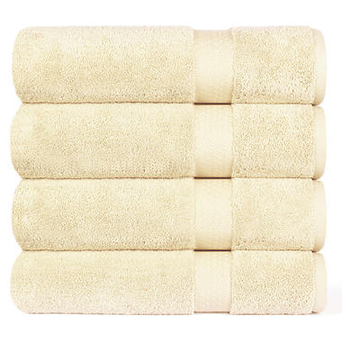 "100% Cotton Super Soft Highly Absorbent Luxurious Bath Towel - 30"" x 58"" - Linen"