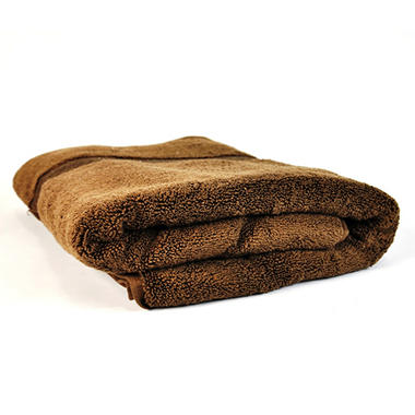 "100% Cotton Super Soft Highly Absorbent Luxurious Bath Towel - 30"" x 58"" - Chocolate"
