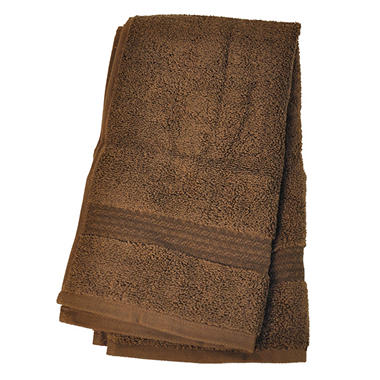 "100% Cotton Super Soft Highly Absorbent Luxurious Hand Towel - 16"" x 30"" - Chocolate"