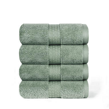"100% Cotton Super Soft Highly Absorbent Luxurious Hand Towel - 16"" x 30"" - Fern"