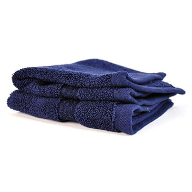 100% Cotton Washcloth - 2 pk. - Navy