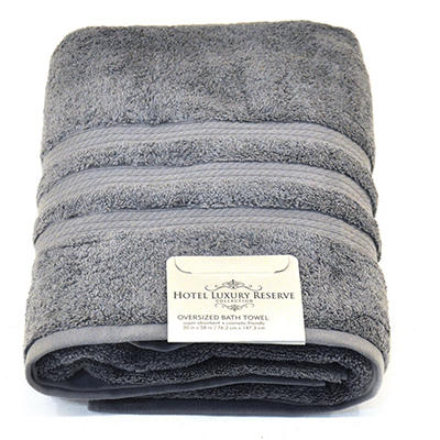 "100% Cotton Luxury Bath Towel, Various Colors (30"" x 58"")"