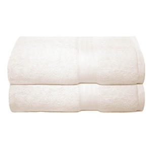 Cotton Tencel Bath Towels, Set of 2 (Ivory)
