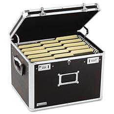 Vaultz - Locking File Chest Storage Box, Letter/Legal, 17-1/2 x 14 x 12-1/2 -  Black