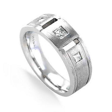 .375 ct. t.w. Square Diamond Men's Ring (G-H, I1)