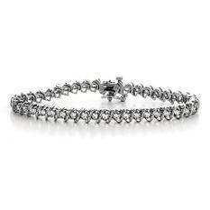 """3 ct. t.w. """"S"""" Diamond WG Bracelet (H-I, I1)"""