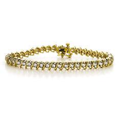 """3 ct. t.w. """"S"""" Diamond YG Bracelet (H-I, I1)"""
