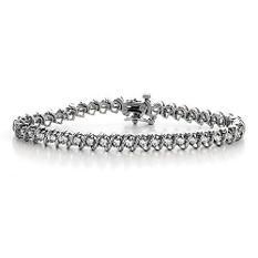 """5 ct. t.w. """"S"""" Diamond WG Bracelet (H-I, I1)"""