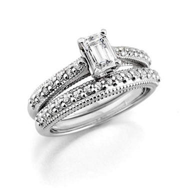 1 ct. t.w. Emerald-Cut Center Bridal Set (H-I,SI2)