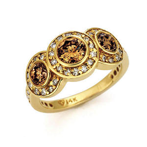1.50 ct. t.w. Champagne & White Diamond Ring