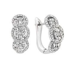 1.33 ct. t.w. Multi-Stone Dia Earrings (H-I, I)