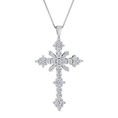 .46 ct. t.w. Diamond Cross Pendant (H-I, I1)