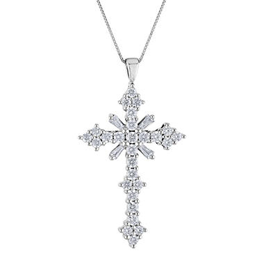 0.46 ct. t.w. Diamond Cross Pendant (IGI Appraisal Value: $850)