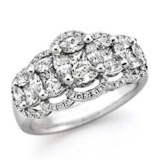 1.40 ct. t.w. Multi-Stone Diamond Ring in 14k White Gold (H-I, I1)
