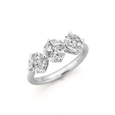 1.00 ct. t.w. Composite Diamond Ring in 14k White Gold (H-I, I1)
