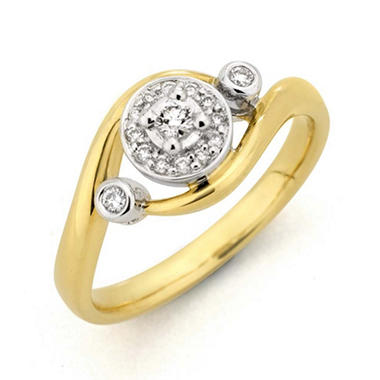 0.16 ct. t.w. Round Diamond Ring in 14k Two-Tone Gold (H-I, I1)