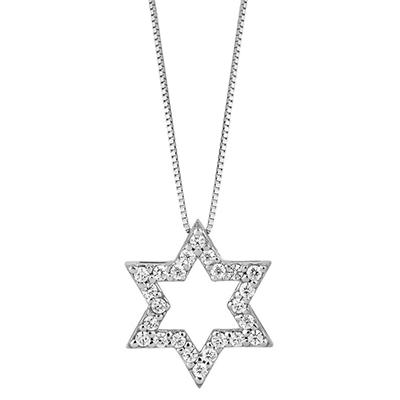 0.38 ct. t.w. Star of David Diamond Pendant (H-I, I1)
