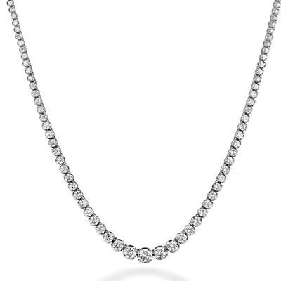 4 ct. t.w. Diamond Riviera Necklace in 14K White Gold (H-I, I1)