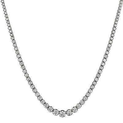 4.31 ct. t.w. Diamond Riviera Necklace in 14K White Gold (H-I, I1)