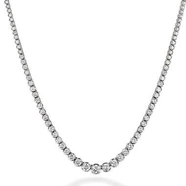 4.63 ct. t.w. Diamond Riviera Necklace in 14K White Gold (H-I, I1)