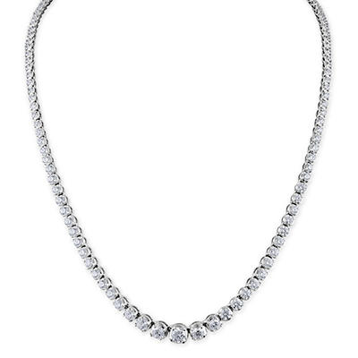 7 ct. t.w. Diamond Riviera Necklace in 14K White Gold (H-I, I1)