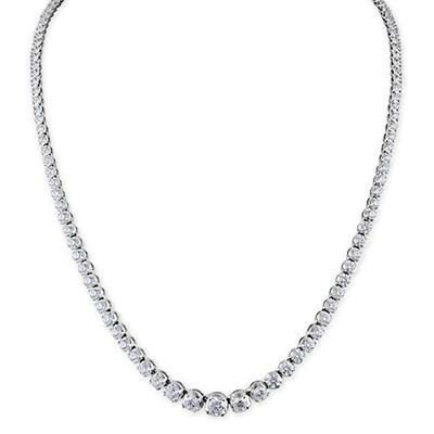 7 ct. t.w. Diamond Riviera Necklace in 14K White Gold (H-I, I1)