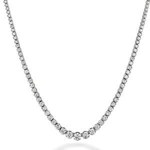 7.46 ct. t.w. Diamond Riviera Necklace in 14K White Gold (H-I, I1)