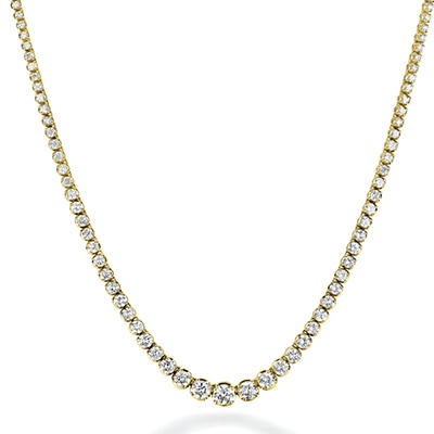 7.46 ct. t.w. Diamond Riviera Necklace in 14K Yellow Gold (H-I, I1)
