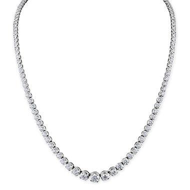 7.92 ct. t.w. Diamond Riviera Necklace in 14K White Gold (H-I, I1)