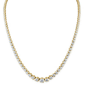 7.92 ct. t.w. Diamond Riviera Necklace in 14K Yellow Gold (H-I, I1)