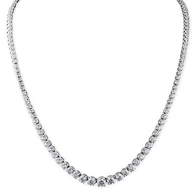 10 ct. t.w. Diamond Riviera Necklace in 14K White Gold (H-I, I1)