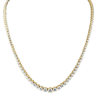 10 ct. t.w. Diamond Riviera Necklace in 14K Yellow Gold (H-I, I1)