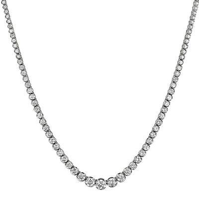 11 ct. t.w. Diamond Riviera Necklace in 14K White Gold (H-I, I1)