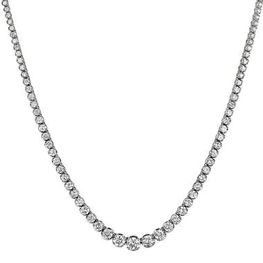 11 ct. t.w. Diamond Riviera Necklace in 14K White Gold (H-I, I1)