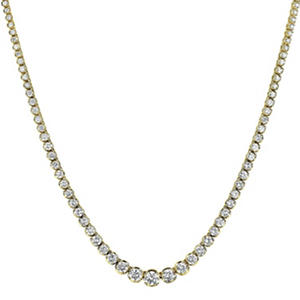 11 ct. t.w. Diamond Riviera Necklace in 14K Yellow Gold (H-I, I1)