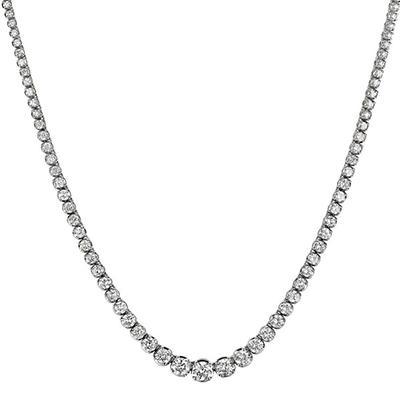 12 ct. t.w. Diamond Riviera Necklace in 14K White Gold (H-I, I1)