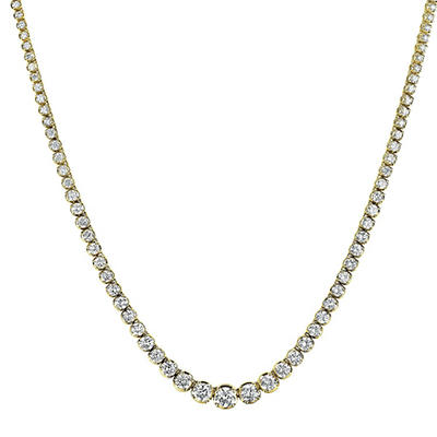 12 ct. t.w. Diamond Riviera Necklace in 14K Yellow Gold (H-I, I1)
