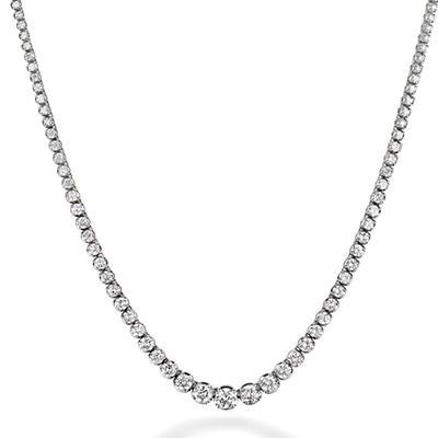 12.5 ct. t.w. Diamond Riviera Necklace in 14K White Gold (H-I, I1)